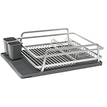 Amazon.com: ta da Aluminum Dish Rack with Silicone Self