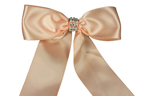 Ribbons - Light Peach Halloween Set of 3 Rolls Organza Plain Ribbon 25 yds Each - by TricaStore
