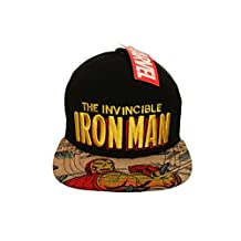 THE INVINCIBLE IRON MAN Black Licensed SNAP-BACK HIP HOP Hat Cap .. Marvel ... Ages : 10+ .. High Quality .. New