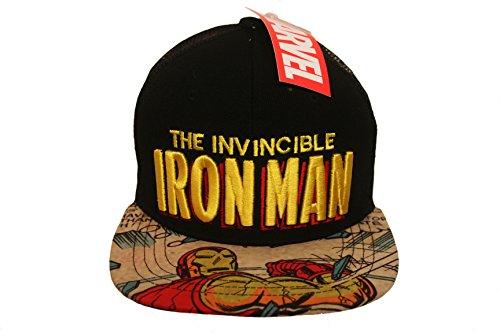 THE INVINCIBLE IRON MAN Black Licensed SNAP-BACK HIP HOP Hat Cap ...Marvel