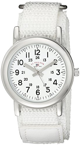 U.S. Polo Assn. Kids' USB75019 Analog Display Analog Quartz White Watch