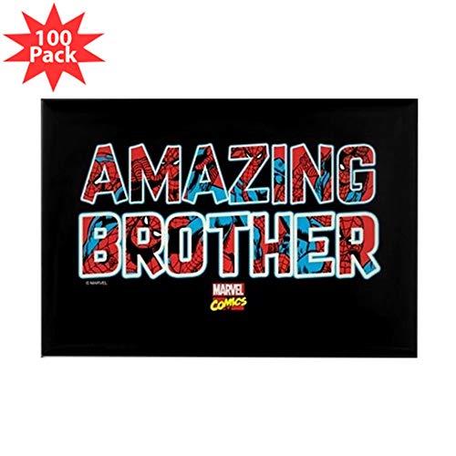CafePress Spider Man Brother Rectangle Magnet (100 pack)