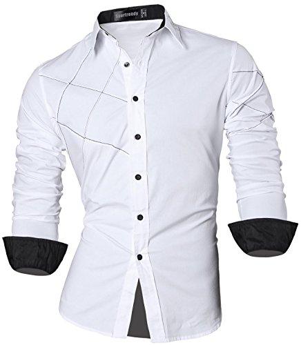 Jzs044 Il Tasto Giù Sottile Del Tatuaggio white Casuale Sportrendy Uomini Camicia Manicotto Jzs041 Vestito Drago Del Del Lungo fxPnqPawB7