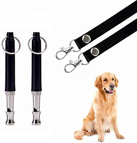 BMHNOONE Dog Whistle to Stop Barking, Adjustable Pitch Ultrasonic Training Tool Silent Bark Control for Dog