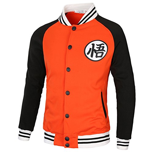 YangXinYuan Dragon Ball Z GOKU Long Sleeve Casual Sweatshirt(L,Orange&Black)