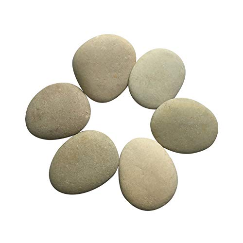Lifetop Painting Rocks - Set of 6, DIY Rocks for Painting Kindness Rocks Smooth Surface Stones,Arts and Crafts (Style - Rock Length