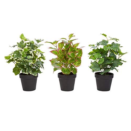 Home Pure Garden Faux Foliage - Assorted Lifelike Plastic 13.5