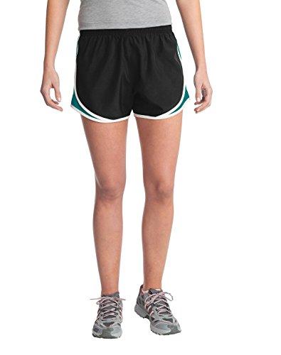 Sport-Tek - Shorts - para mujer Black/Tropic Blue/White