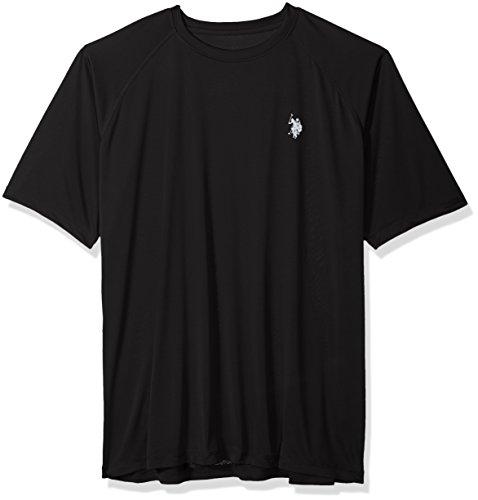 U.S. Polo Assn. Mens Rash Guard UPF 50+ Swim T-Shirt, Black, 4X (Trunk Tee Shirts)