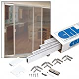Clear Anodized 37'' x 97'' Heavy-Duty Extruded K.D. Sliding Screen Door Kit - 1-3/4'' Frame