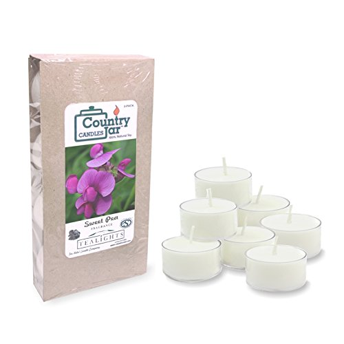 Country Jar Sweet Pea Soy Tea Light Candles (8-Pack/.75 oz. ea.) Spring Pick-3 Sale! See Details. ()
