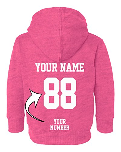 Number Toddler Jersey T-shirt - Custom Toddler Hoodies - Design Your OWN Jersey - Pullover Hooded Team Sweaters