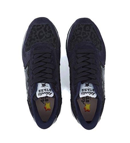 Sneaker Blu Leopardo Vega Pelle In Atlantic Tessuto E Donne Di Colore Stelle Delle xnE5wqg84x