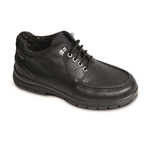 Padders Men's Waterproof Leather Boot'Crest' | Made in Britain | Dual Fit System | Extra Wide G-H Fit| 35mm Heel Height | Free Footcare UK Shoe Horn
