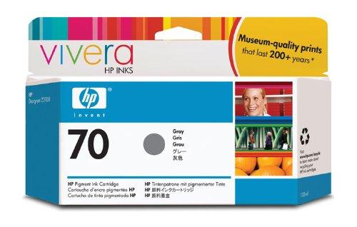 HP 70 Gray 130 Ml Ink Cartridge Use In Hp Designjet Printer