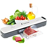 Vacuum Sealer Machine, SUNCOM Automatic Sous Vide Vacuum Air Sealing System with Starter Kit, Includes 6 pcs Bags and for Dry & Moist Food Saver Preservation and Compact Clothing Jewelry