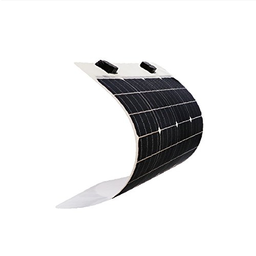 Renogy 50 Watt 12 Volt Extremely Flexible Monocrystalline Solar Panel - Ultra Lightweight, Ultra Thin, Up to 248 Degree Arc, for RV, Boats, Roofs, Uneven Surfaces