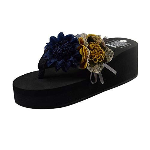 Chevrons Bain Toe Antidérapant Flops Flip Panpany Salle De Fleur Epais Fond National Femmes ❤femmes Marine Clip Pantoufles Chaussures Tong Rétro Plage Mode Sandales Slippers Style YznFwnTRq