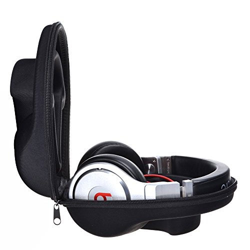 EVA Protecting and Carrying Hard Headphone Case Bag Box for Beats by Dr. Dre Pro Detox Pro Over/Beats Studio 1 2 3 Studio Wireless SOLO 2 3 Headphone (L)