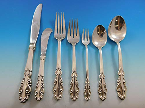 (Esplanade by Towle Sterling Silver Flatware Set for 12 Service 92 pieces)