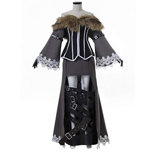 CosplayDiy Women's Suit for Final Fantasy X Lulu Cosplay Costume S -