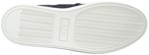 Men Slip A Navy Fashion Exchange Armani Pu X Microperf Sneaker OwtAHq4t