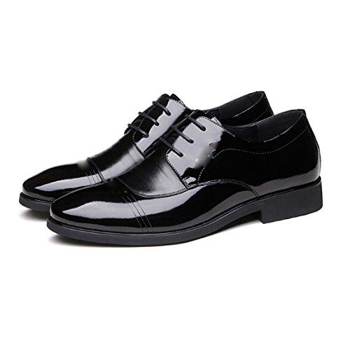 Primavera Scarpe Elegante in Uomo Pelle da Stringate Scarpe Scarpe da Scarpe Affari Oxford Black Semplice Sposa Pelle Inghilterra 5UWwtqFw