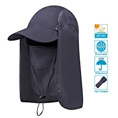 UPF 50+ 360° PROTECTION SUN CAPS HATS High-tech fabrics were use,featuring UPF 50+ to block out 98% of harmful UVA and UVB rays. 360° to keep delicate skin on the neck ears and face safe from harmful rays, HUMANIZED DESIGN Removable mask and ...