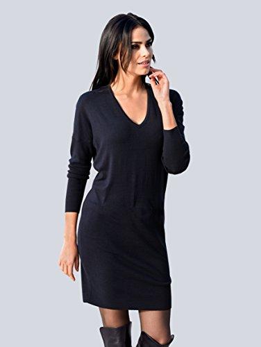 Alba Marineblau Strickkleid trageangenehmer Damen Formstabil Moda Sehr Qualität in by rPnprvq