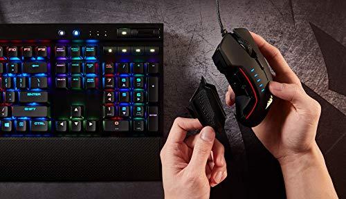 CORSAIR Glaive - RGB Gaming Mouse - Comfortable & Ergonomic - Interchangeable Grips - 16000 DPI Optical Sensor - Black