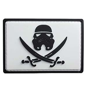Amazon.com: Parche de goma con diseño de estrella de guerra ...