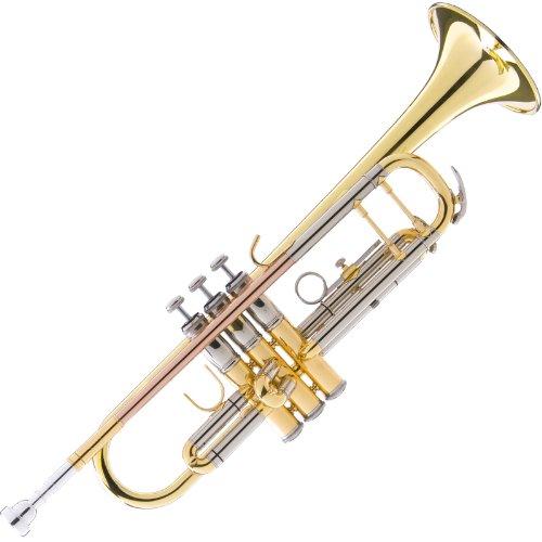 Mendini MTT-40 Intermediate/Advanced Double-Braced Bb Trumpet by Mendini