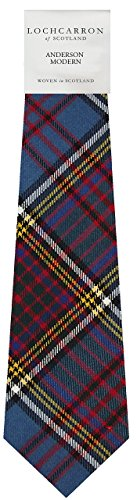 (Anderson Modern Wool Plaid Neck Tie Made in Scotland)