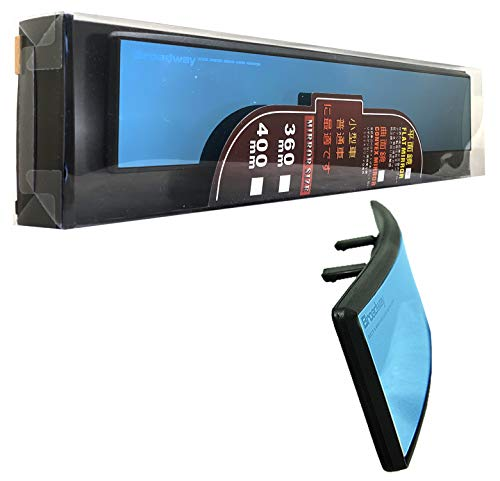 """ICBEAMER Broadway 360mm 14.2"""" Type-A Clip On Universal Interior Rear View Blue Tint Convex Surface Mirror Sold"""