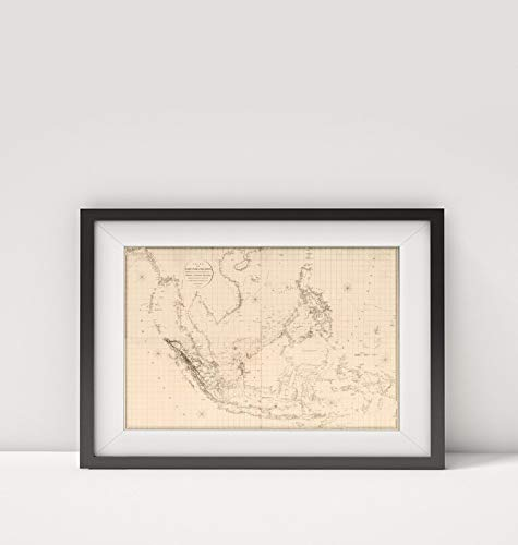 1812 Map of Indonesia|Composite: Chart of The East India Islands|Southeast Asia|Title: (Composite of