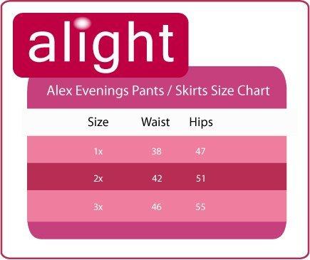 Plus Size Alex Evenings 432273 Skirt --Size: 1x Color: Hydrangea