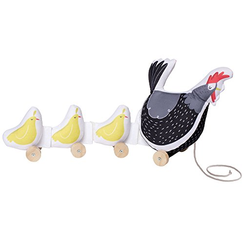 Manhattan Toy Farmer's Market Chicken Soft Pull Along Preschool Activity Baby Toy
