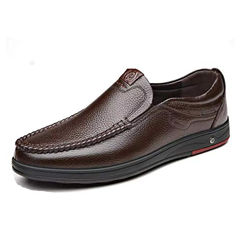 Genuine Leather Men Flats Shoes Business Casual Shoes Classic Official Loafers Soft Moccasins Male Breathable Driving ()