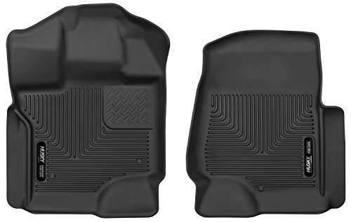 Husky Liners 53361 Floor Liners - Front Black Fits 17-19 Ford F-250/350/F450 Crew - Window Contour Motor Ford