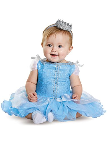 Disguise Baby Girls' Cinderella Prestige Infant Costume, Blue, 12-18 Months (Costume Baby For Cinderella)