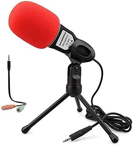 Micrófono de PC con Soporte para PC y Smartphone, 3.5 mm Plug and ...