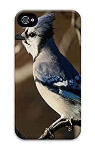 iPhone 4 4S Case Blue Jay 3 Animal 3D Custom iPhone 4 4S Case Cover