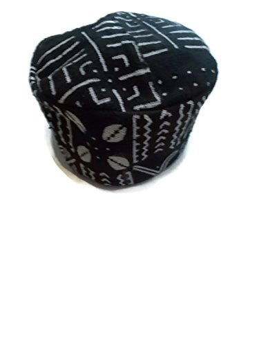 [African Men's Authentic Mudcloth Kufi Hat 1972, Made in Mali, One Size] (Ethnic Hats)