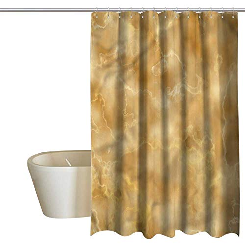 Denruny Shower Curtains for Bathroom Madison Park Marble,Natural