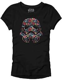 Stormtrooper Storm Trooper Tropical Floral Flower Funny Humor Pun Juniors Slim Fit Adult Graphic Tee T-Shirt