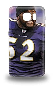 Unique Design Galaxy S6 Durable Tpu 3D PC Case Cover NFL Baltimore Ravens Ray Lewis #52 ( Custom Picture iPhone 6, iPhone 6 PLUS, iPhone 5, iPhone 5S, iPhone 5C, iPhone 4, iPhone 4S,Galaxy S6,Galaxy S5,Galaxy S4,Galaxy S3,Note 3,iPad Mini-Mini 2,iPad Air )
