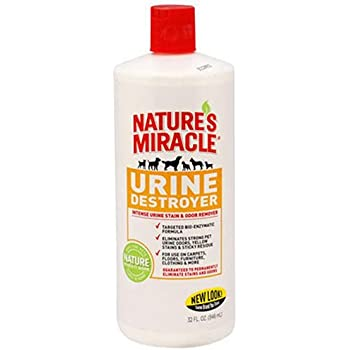 Nature's Miracle Urine Destroyer Formula Stain & Residue Eliminator, 32-Ounce Pour Bottle (P-5727)