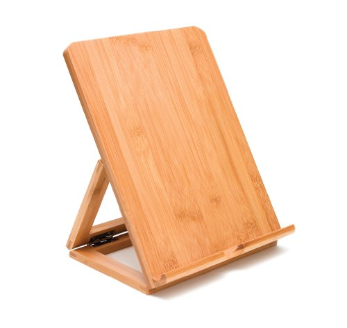(Lipper International 1886 Bamboo Wood Folding Stand for iPad, Samsung, Nexus, Nintendo Switch, and Other Tablets)