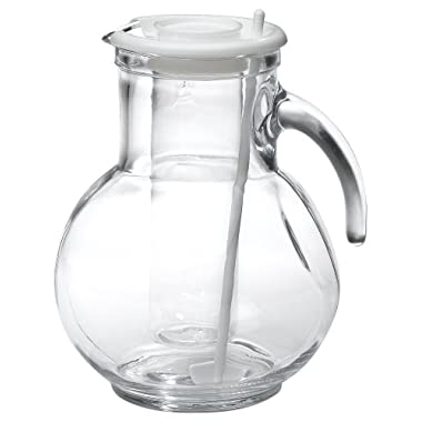 Bormioli Rocco Kufra Glass Pitcher with Ice Container and Lid, 72 3/4 oz