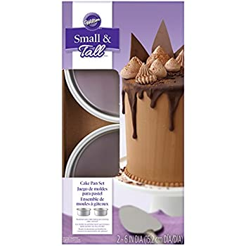 Amazon Com 6pc Mini Tiered Cake Pan Set With Decorating